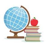 Globo e libri Immagini Stock