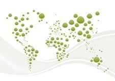 Globo e onda abstratos do mundo Imagens de Stock