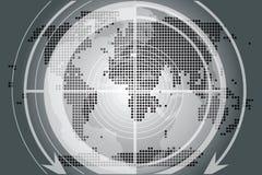 Globo e programma neri della terra Fotografie Stock Libere da Diritti