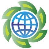Globo e setas verdes Imagem de Stock Royalty Free