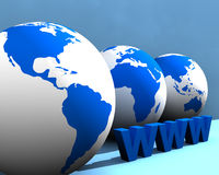 Globo e WWW 004 Immagine Stock