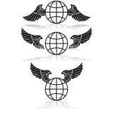 Globo ed ali illustrazione vettoriale