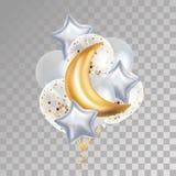 Globo el Ramadán de Crescent Moon del oro