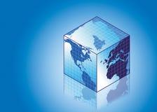 Globo em uma forma quadrada Imagens de Stock Royalty Free