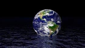 Globo en agua Fotografía de archivo libre de regalías