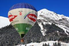 Globo en el festival 2009 del globo del d'Oex del castillo francés Imagen de archivo
