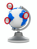 Globo en el fondo blanco Imagen de archivo libre de regalías