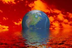 Globo en el océano fotos de archivo libres de regalías