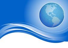 Globo en fondo azul Foto de archivo libre de regalías