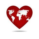 Globo en la forma de un corazón del amor Foto de archivo
