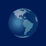 Globo estilizado del vector 3D, América