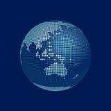 Globo estilizado do vetor 3D, Austrália Imagens de Stock