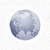 Globo estilizado pontilhado vetor do mundo Ásia ilustração do vetor