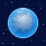 Globo estilizado pontilhado vetor do mundo com atmosfera ilustração royalty free
