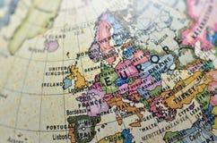 Globo Europa Fotografia Stock Libera da Diritti