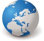 GLOBO EUROPA 3d del MONDO illustrazione vettoriale