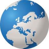 GLOBO EUROPA DEL MUNDO Fotografía de archivo libre de regalías