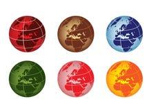Globo - Europa e l'Africa illustrazione vettoriale