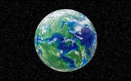 Globo feito a mão do plasticine Grande ícone para temas globais imagens de stock
