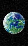 Globo feito a mão do plasticine Grande ícone para temas globais fotografia de stock