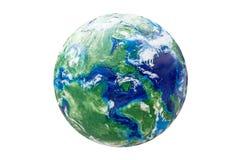 Globo feito a mão do plasticine isolado Grande ícone para temas globais imagem de stock royalty free