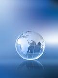 Globo-África Asia y Europa Imagen de archivo libre de regalías
