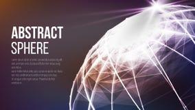 Globo futuristico della terra r Grande vettore del complesso di dati Immagine generata Digital Vettore Immagini Stock Libere da Diritti
