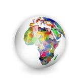 Globo geometrico dell'Africa Immagine Stock
