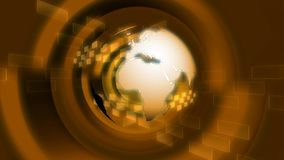 Globo giratorio del oro stock de ilustración