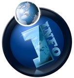 Globo Info redondo Imágenes de archivo libres de regalías