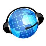 Globo Kopfhörer Stockbild