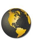 Globo. Mapa estilizado do vetor 3D. Ilustração do Vetor