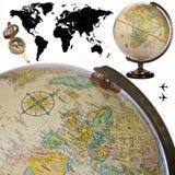 Globo - mappa di mondo - isolato Fotografie Stock Libere da Diritti