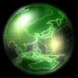 Globo moderno verde Fotos de archivo