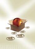 globo na caixa Ilustração Royalty Free