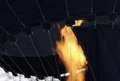 Globo negro del aire caliente Fotografía de archivo