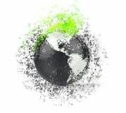 Globo negro del mundo Imágenes de archivo libres de regalías