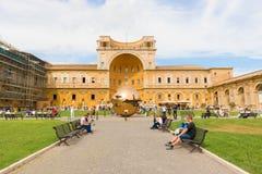 Globo nel museo di Vatican Fotografia Stock Libera da Diritti