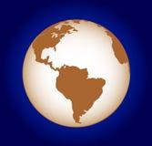 Globo no azul Imagem de Stock Royalty Free
