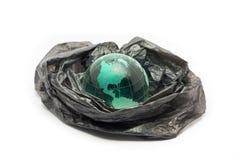 Globo no plástico imagem de stock