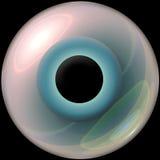 globo ocular do azul 3d Fotografia de Stock