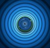 Globo ocular do Spyware no fundo azul ilustração stock