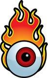 Globo ocular flamejante ilustração stock