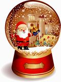 Globo Papai Noel da água Foto de Stock Royalty Free