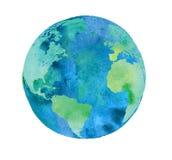 Globo pintado à mão da terra ilustração royalty free