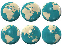 Globo plástico do mundo Foto de Stock