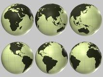 Globo plástico do mundo Fotografia de Stock Royalty Free