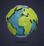 Globo polivinílico bajo del mundo del vector libre illustration