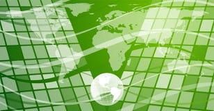 Globo, mappa, curve e quadrati Immagine Stock