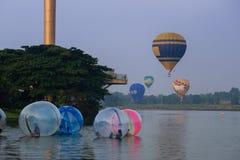 Globo Putrajaya del aire caliente Foto de archivo libre de regalías
